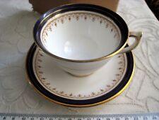 Aynsley Leighton 1646 taza de té y platillo hecho en Inglaterra bien inglés Bone China