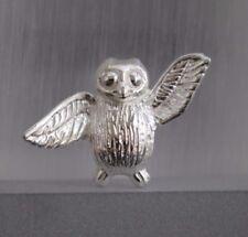 925 Silber Anhänger Eule Uhu Owl Symbol der Weisheit Damen Kettenanhänger massiv