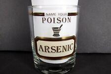 Vintage Name Your Poison Cera Rocks Glass Arsenic MCM
