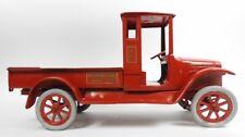 RARE Buddy L INTERNATIONAL HARVESTER Red Baby MOLINE STEEL Truck Antique 1920s