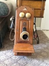 Antique Wooden Wall Telephone