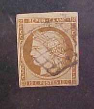 FRANCE STAMP #1 cat.$210.00 USED