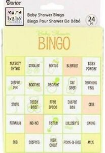 NEW BABY SHOWER BINGO GAME UNISEX DECORATION PARTY SUPPLY FAVORS GAMES