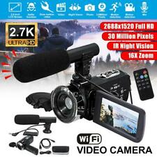 WiFi 4K LCD Digital Camera Microphone Camcorder HD 1520P 30MP 16X Zoom Video DV