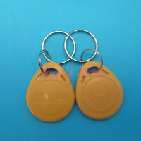 1PC YELLOW EM4100/4102 Keychains 125Khz RFID Proximity ID Card /Tags /Keyfobs