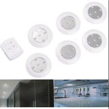6 pièces 10cm Télécommande sans fil lumière LED Spot à Piles Pile