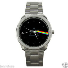 Pink Floyd Dark Side of The Moon Stainless Steel Wrist Watch GIFT NEW