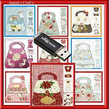 SHAPED CARDS=26 X HAND BAGS TO PRINT,CUT AND CREATE+2 BONUS PACKS OF 10 PLAIN
