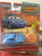 Disney Pixar Cars Radiator Springs Sally with Tattoo & Table Mattel 1.55 BNIB