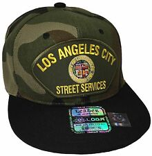 City Of Los Angeles Street Services Hat Color Camo Black Snapback