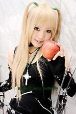 Death Note Misa Amane, Blond Long Straight Cosplay Party Costume cheveux pleine perruque