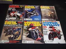1984 MOTOR CYCLIST MAGAZINE LOT OF 12 ISSUES - GREAT BIKES NICE COVERS - M 245