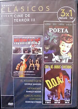 GRANDES CLÁSICOS 3X1 TERROR III (SANDERS, PALMA, KARLOFF, COBURN) - DVD - NUEVO