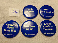 Penn State Bank Buttons - Many to choose from - $2.00 each