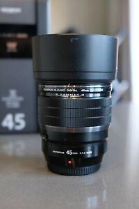 Olympus M. Zuiko Digital ED 45mm F/1.2 PRO Lens - Used once
