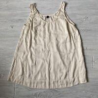 Eileen fisher off-white silk blend Tank Top  Shirt Womens Size medium