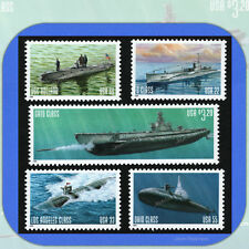 2000  U.S. NAVY SUBMARINES  Complete Set of 5 MINT Booklet Stamps  # 3373-3377