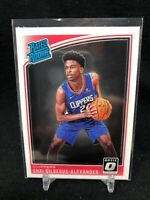 2018-19 PANINI DONRUSS OPTIC SHAI GILGEOUS-ALEXANDER #162 RATED ROOKIE M46