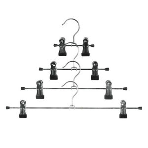 Kleiderbügel Metall mit 2 Clips, Klemmbügel, Hosen Röcke, Klammerbügel KI-KVC-0