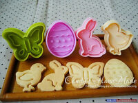 4X Easter Egg Rabbit Cake Fondant Plunger Cutter Cookies Biscuit Pastry Mold DIY