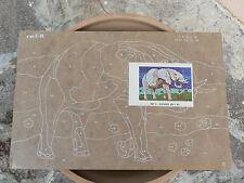 NUOVO Tavola Tavoletta legno compensato prestampata hobby mod elefante