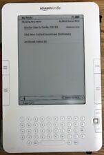 """D2 Amazon Kindle D00511 6"""" Wireless Reader Tablet WHITE/ CHAMPAGNE"""