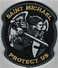 "3 1/2"" Full Color St. Saint Michael Protect Us Morale Patch Hook Fastener"