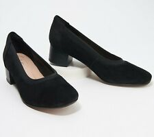 Clarks Collection Black Suede Pumps - Chartli Fame US 9W New