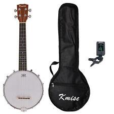 Kmise 4 String Banjo Ukulele Concert 23 Inch Size with Bag Tuner