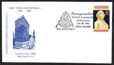 Grand Lodge of NY 200th Anniversary Masonic Cancel George Washington lot 867