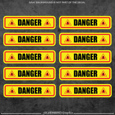 10x Danger sticker decals / industry / warehouse / caution / warning / vinyl 3M