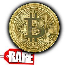 BTC BITCOIN Gold Coin Rare - Real life Gold Plated Bit coin Coin Collectible