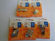 Athens 2004 olympic pin set torch relay 5 pins