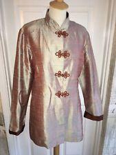 Gorgeous Shantung Oriental Jacket Size 12