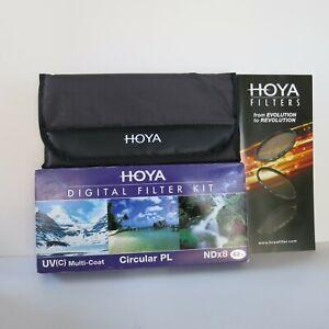 Hoya 62mm UV HMC + Cicular Polarizer CPL + NDx8 3-piece Digital Filter Set Kit