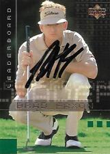 Brad Faxon Signed 2002 Upper Deck Leader Board Golf Card - COA - US Open - PGA