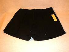 SOPHIE RUE WOMEN'S SHORTS ** SIZE LARGE ** BLACK WITH PLEATED OVERLAY