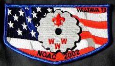 WIATAVA OA LODGE 13 ORANGE COUNTY CA PATCH 298 430 FLAG NOAC 2002 DELEGATE FLAP