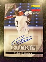 2017 Leaf Draft Exclusive GLEYBER TORRES Rookie Autograph NY Yankees Auto RC gem