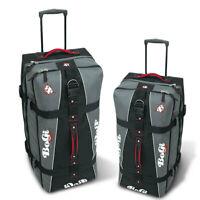 Bopgi Bag Reisetaschen Set schwarz Reisetrolley L + XL Koffer mit 2 Rollen