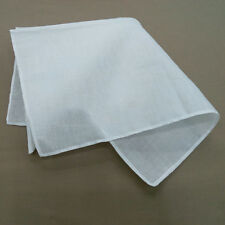 10 Pcs Vintage Women Cotton Handkerchief Pure White Ladies Child Solid Hankies
