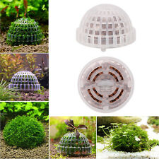 Aquarium Fish Tank Plastic Moss Ball Filter Live Plant Holder Decor Accessories