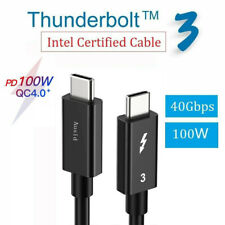 Thunderbolt Cable 40Gbps Type C USB-C to USB-C 100W Fast Charger Cable For Samsu