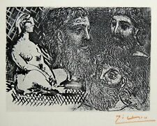 "Pablo Picasso ""Suite Vollard-Femme nue assise..barbues"" 1952 Hand Signed Lithog."