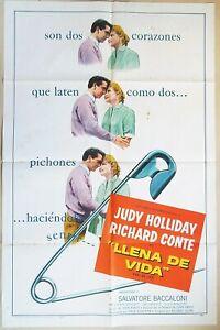 Full of Life 1957 Judy Holliday & Richard Conte! Original US One Sheet Poster