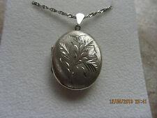 Silver Locket & Chain Length 57cm  Weight 11.8g, Locket 4.5cm Sterling Silver