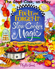 New Fix It and Forget It Slow Cooker Crockpot Magic 550 Cooking Recipes Cookbook