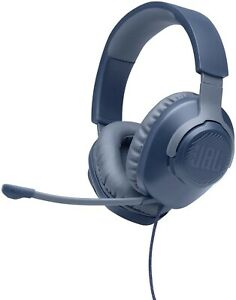 NEW JBL Quantum 100 Wired Over-Ear Gaming Headset with Detachable Boom Mic🔵Blue