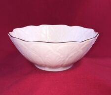 """Lenox Bowl with Embossed Acanthus Leaves / 4 1/2"""" Round"""