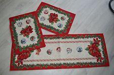 Weihnachtsdecke 37x100 Gobelin/Weihnachtsstern/hochwertig/SONDERANGEBOT